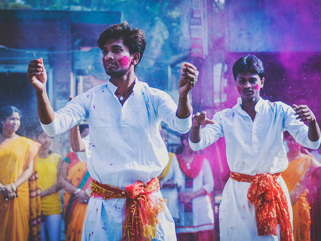 How much freedom do we have in Asia? - Editorial photo: 2 Indian men dancing in traditional clothing