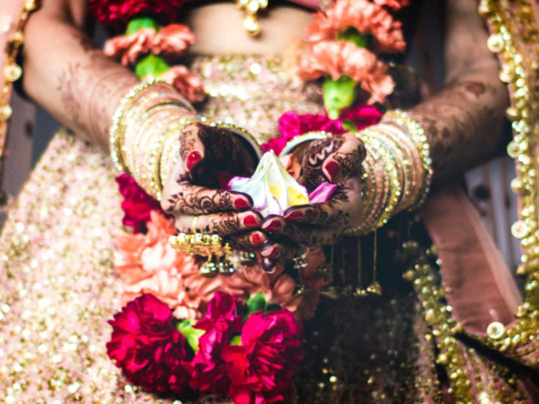 Editorial photo: Indian bride