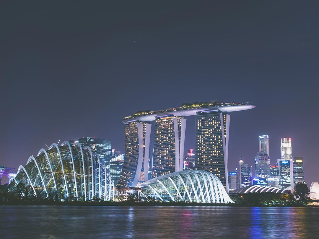 Photo of Marina Bay Sands from across harbour