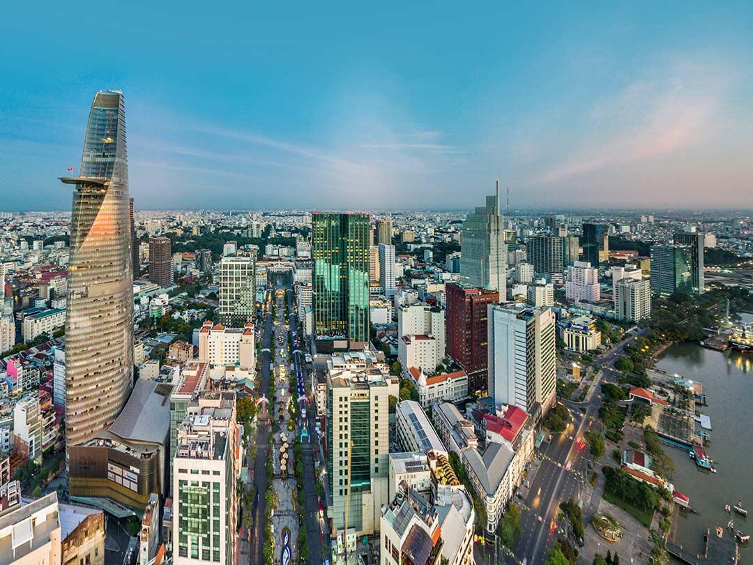 Editorial photo: Vietnam skyline