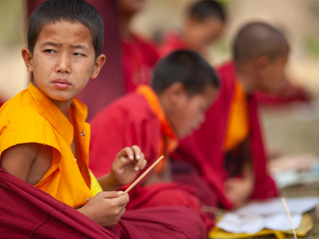 Photo: Bhutan young monks